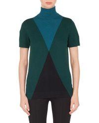 Akris Punto - Wool & Cashmere Argyle Sweater - Lyst