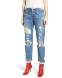 Levi's - Levi's 501(tm) Taper Ripped Boyfriend Jeans - Lyst