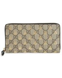 Gucci - Linea A Bee Gg Zip-around Wallet - - Lyst