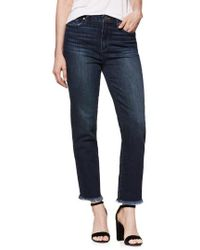 PAIGE - Hoxton High Waist Ankle Straight Leg Jeans - Lyst