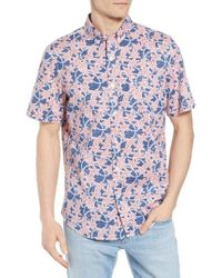 Vineyard Vines - Slim Fit Tucker Batik Floral Woven Shirt - Lyst
