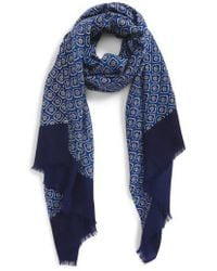 Calibrate - Floral Wool Scarf - Lyst