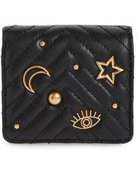 Rebecca Minkoff - Half Snap Calfskin Leather Wallet - Lyst