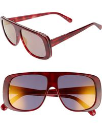 Stella McCartney - 57mm Flat Top Sunglasses - Avana - Lyst