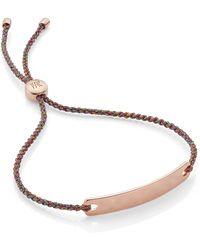 Monica Vinader - Engravable Havana Mini Friendship Bracelet - Lyst