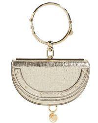 Chloé - Small Nile Bracelet Calfskin Leather Minaudiere - Lyst