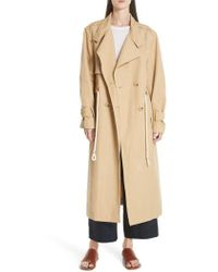 Vince - Double Breasted Long Trench Coat - Lyst