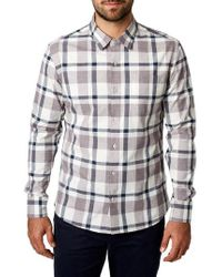 7 Diamonds - Youngblood Trim Fit Plaid Sport Shirt - Lyst