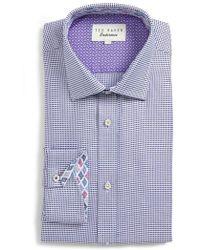 Ted Baker - Endurance Giara Trim Fit Dress Shirt - Lyst