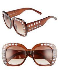 Circus by Sam Edelman - 53mm Imitation Pearl Sunglasses - Lyst