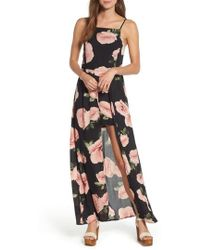 Band Of Gypsies - Floral Maxi Romper - Lyst
