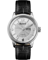 INGERSOLL WATCHES - Ingersoll Regent Automatic Leather Strap Watch - Lyst