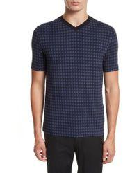Armani - Armani Collezioni High V-neck T-shirt - Lyst