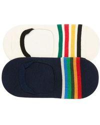 Pendleton - National Park 2-pack No-show Socks, White - Lyst