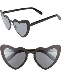 Saint Laurent - Loulou 55mm Heart Shaped Sunglasses - - Lyst