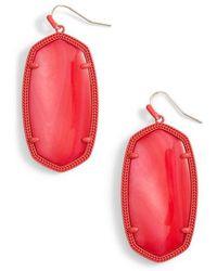 Kendra Scott - Danielle - Large Oval Statement Earrings - Lyst