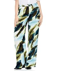 Vince Camuto - Breezy Leaves Wide Leg Trousers - Lyst