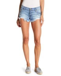 Pistola - Low Rise Distressed Cut-off Shorts - Lyst