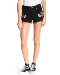 Levi's - 501 Embroidered Shorts - Lyst