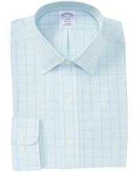 Brooks Brothers - Grid Print Regent Fit Dress Shirt - Lyst