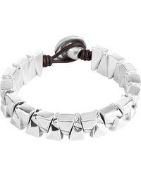 Uno De 50 - Sarabi Stacked Geo Beaded Leather Bracelet - Lyst