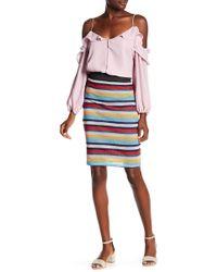 Parker - Striped Midi Pencil Skirt - Lyst