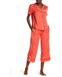 Room Service - Silky Embroidered 2-piece Pj Set - Lyst