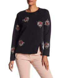 Lucky Brand - Embroidered Flowers Pullover - Lyst
