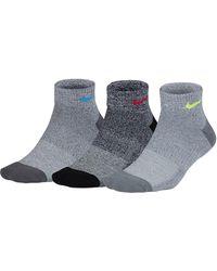 Nike - Performance Cushioned Training Quarter Socks - Pack Of 3 - Lyst