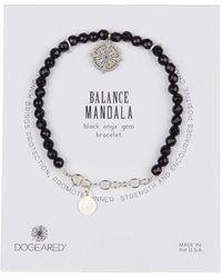 Dogeared - Sterling Silver Balance Black Onyx Bead & Mandala Charm Bracelet - Lyst