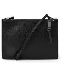 T Tahari - Double Zip Mini Leather Crossbody Bag - Lyst