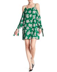 19 Cooper - Cold Shoulder Floral Printed Dress - Lyst