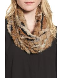 Vincent Pradier - Genuine Rabbit Fur Infinity Scarf - Lyst