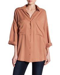 Dress Forum - 3/4 Sleeve Button Up Shirt - Lyst