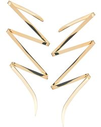 Lana Jewelry - Large Bolt 14k Yellow Gold Stud Earrings - Lyst