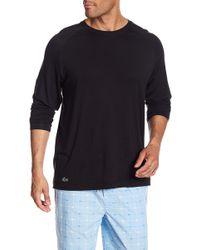 Lacoste - Long Sleeve Sleep Shirt - Lyst