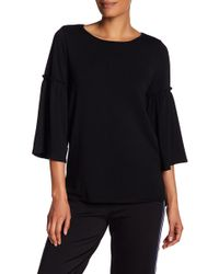 Max Studio | Bell Sleeve Pullover Sweatshirt | Lyst
