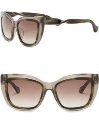 7ce34d0c07d Lyst - Balenciaga  ba0053  55mm Cat Eye Sunglasses in Brown