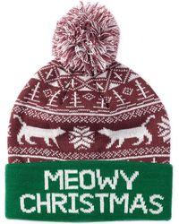 Bioworld | Meowy Christmas Pompom Beanie | Lyst