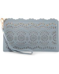 Shiraleah - Kaitlyn Faux Leather Wristlet - Lyst
