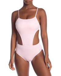 Juicy Couture - Embossed Cutout One Piece Bikini - Lyst
