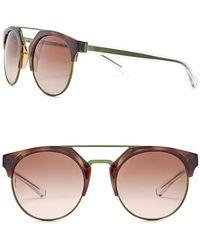 Emporio Armani - Women's Clubmaster 53mm Metal Frame Sunglasses - Lyst
