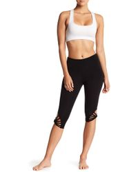 DSGN Yoga - Cut-out Capri Leggings - Lyst