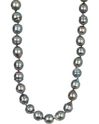 Tara Pearls - 9-10mm Tahitian Pearl Endless Strand Necklace - Lyst