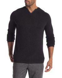 Autumn Cashmere - Woven Trim Collar Cashmere Sweater - Lyst
