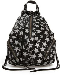 Rebecca Minkoff - Mini Julian Metallic Star Nubuck Leather Convertible Backpack - Lyst