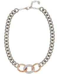 Swarovski - Bound Crystal Detail Chain Necklace - Lyst