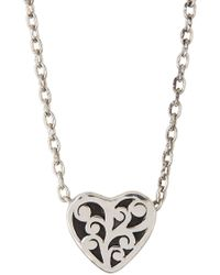 Lois Hill - Sterling Silver Cutout Heart Slide Pendant Necklace - Lyst