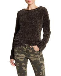 Dex - Crew Neck Hi-lo Chenille Sweater - Lyst