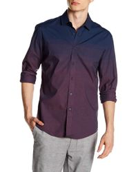 Vince Camuto - Long Sleeve Slim Fit Check Shirt - Lyst